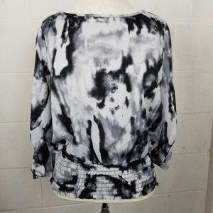 Michael Kors splatter design blouse
